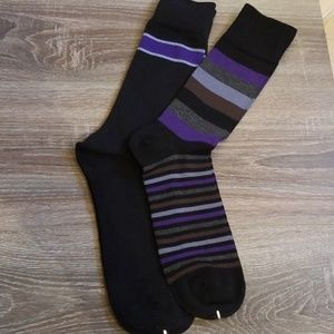 Other - 2 Pair Mens Sock Assortment with Hand Linked Toe